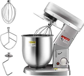 3. Huanyu Commercial Stand Mixer 10QT 500W Electric Dough Blender