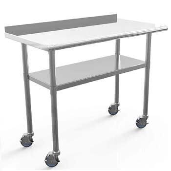 6. Nurxiovo Commercial Work Table Stainless Steel Table