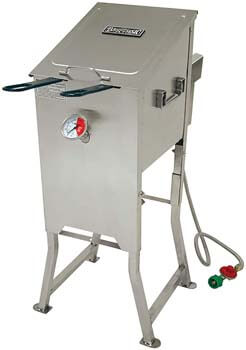 1. Bayou Classic 700-701 4-Gallon Bayou Fryer Stainless Steel