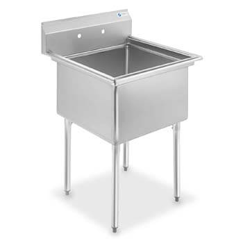 1. GRIDMANN 1 Compartment NSF Stainless Steel Commercial Kitchen Prep & Utility Sink