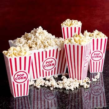10. Novelty Place] Plastic Red & White Striped Classic Popcorn Containers