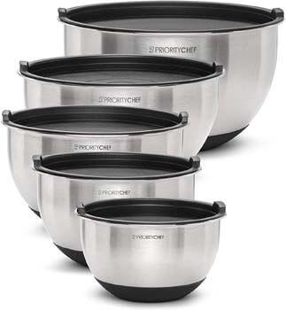 10. PriorityChef Premium Mixing Bowls