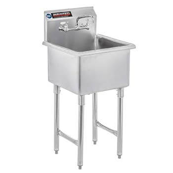 8. DuraSteel Stainless Steel Prep & Utility Sink