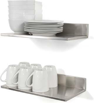 5. Stainless Steel Wall Mount Shelf