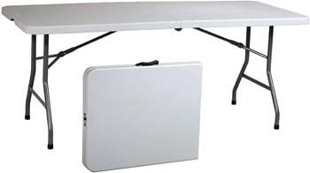 3. Ontario Furniture 8 Foot Plastic Folding Table
