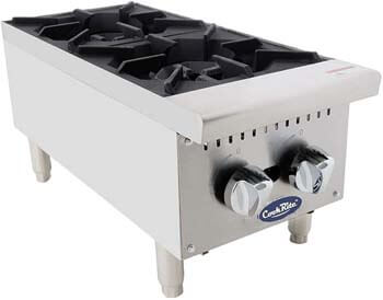 1. ATOSA US Two Burner Commercial Hot Plate Countertop Stove