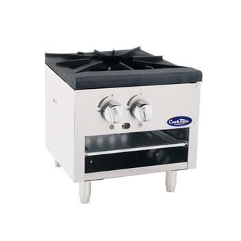 6. Cook Rite ATSP-18-1L Single Stock Pot Stove Natural Gas Stainless Steel Countertop