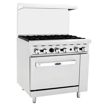 2. ATOSA US CookRite ATO-6B Commercial Manual Natural Gas Range 6 Burner Hotplates
