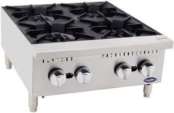5. CookRite Four Burner Hot Plate Commercial Countertop