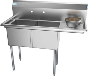 9. KoolMore 2 Compartment Stainless Steel NSF Commercial Kitchen Prep & Utility Sink