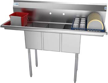 4. KoolMore - SC101410-12B3 3 Compartment Stainless Steel NSF Commercial Kitchen Sink