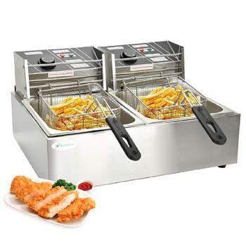 7. Nurxiovo 16 Liter Electric Commercial Deep Fryer