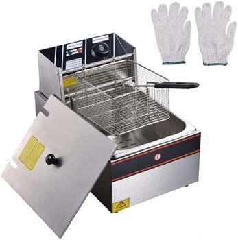 6. WeChef 12L 2500W Countertop Electric Deep Fryer