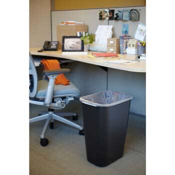 4. Rubbermaid Commercial Products Fg295700Bla Plastic Resin Deskside Wastebasket