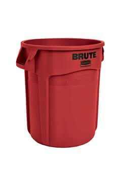 2. Rubbermaid Commercial Products FG261000RED BRUTE Heavy-Duty Round Trash/Garbage Can