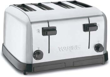 1. Waring WCT708 Commercial 4 Slice Toaster