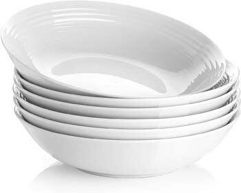5. Y YHY 26 Ounces Porcelain Pasta Salad Bowls