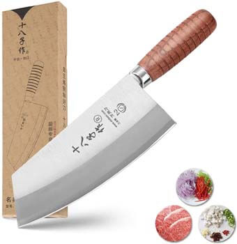 9. SHI BA ZI ZUO Chef Knife Chinese Cleaver Kitchen Knife