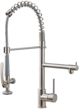 8. Fapully Commercial Pull Down Kitchen Sink Faucet