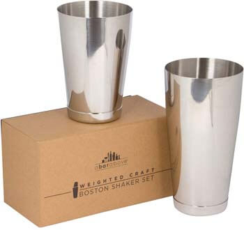 4. Premium Weighted Cocktail Shaker Set