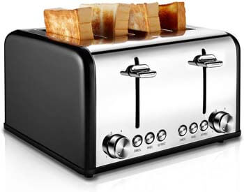 3. CUSIBOX Stainless Steel Toaster