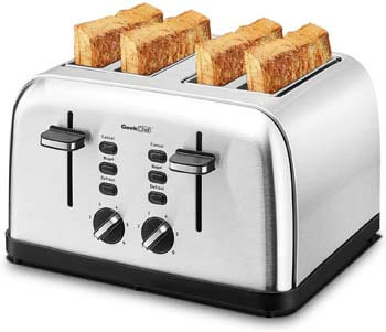 8. Geek Chef Stainless Steel Extra-Wide Slot Toaster