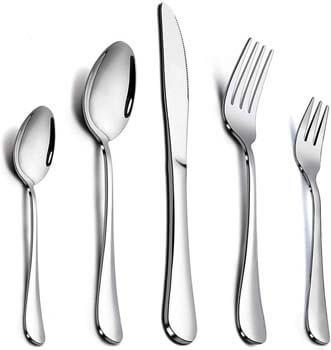4. Elegant life 60-Piece Silverware Flatware Cutlery Set