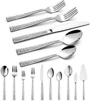 9. HaWare Stainless Steel Silverware Cutlery Set