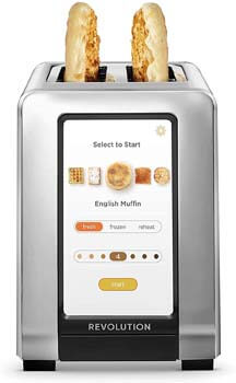 6. Revolution Cooking R180 High-Speed 2-Slice Stainless Steel Smart Toaster