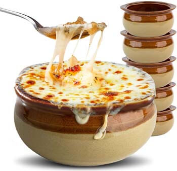 9. Stock Your Home French Onion Soup Crocks (6 Count)